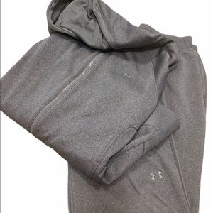 Under Armour semi-fitted storm grey jogging suit!